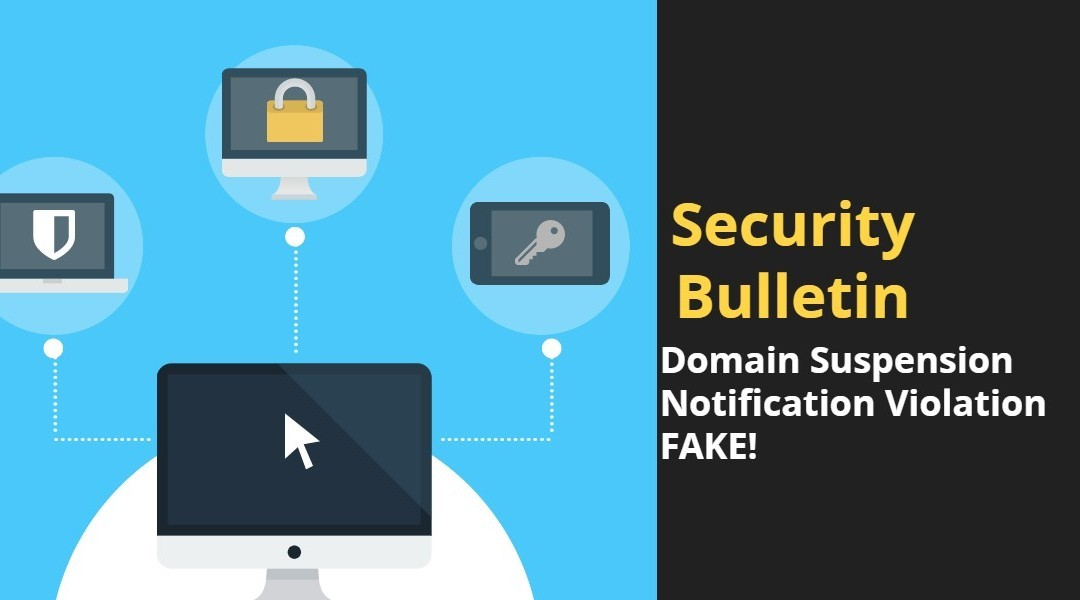 Domain Suspension Notice Violation – Fake Email